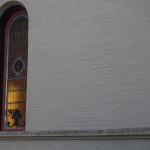 Light peeking through the chapel windows.